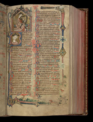 Beginning of the Book of Psalms, in the Penwortham Breviary